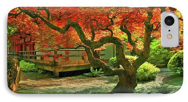 Tree, Japanese Garden IPhone Case by Marius Sipa
