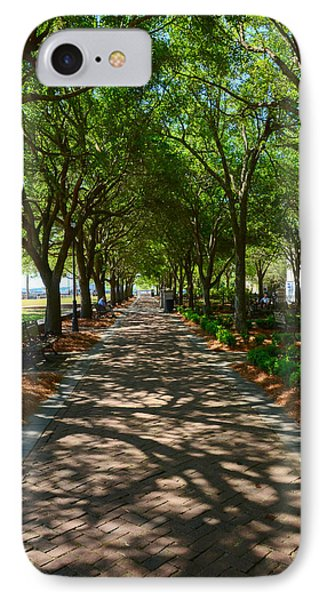 Tree Lined Path IPhone Case