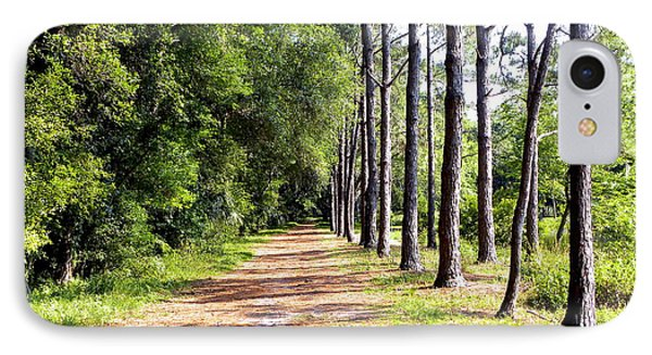 Tree Lined Path IPhone Case by Terri Mills
