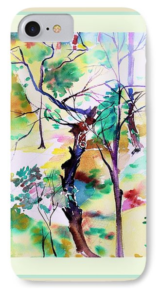 IPhone Case featuring the painting Tree Lovers by Mindy Newman