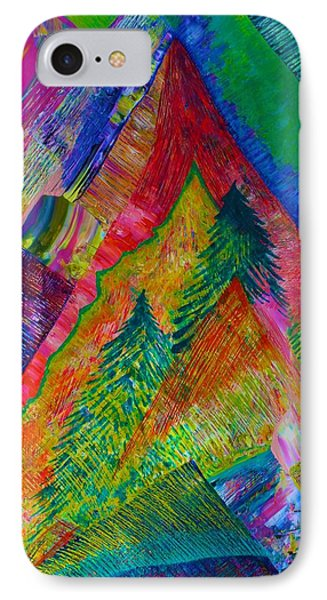 IPhone Case featuring the painting A Tree Motif by Polly Castor