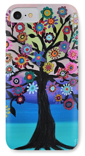 IPhone Case featuring the painting Blooming Tree Of Life by Pristine Cartera Turkus