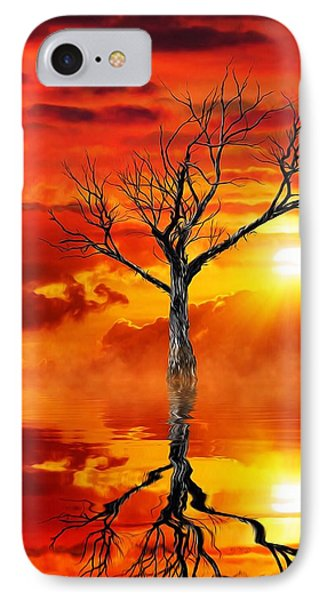 IPhone Case featuring the mixed media Tree Of Destruction by Gabriella Weninger - David