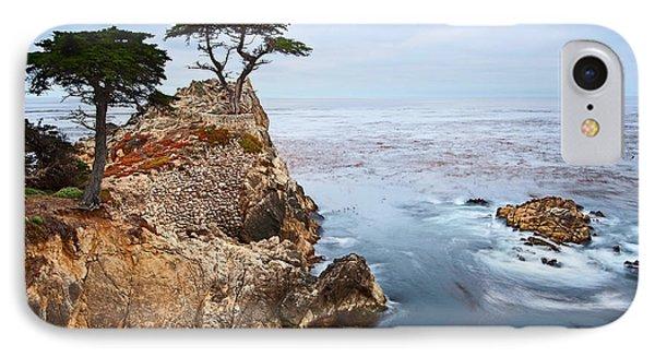 Tree iPhone 7 Case - Tree Of Dreams - Lone Cypress Tree At Pebble Beach In Monterey California by Jamie Pham
