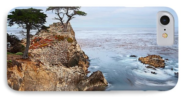 Tree Of Dreams - Lone Cypress Tree At Pebble Beach In Monterey California IPhone Case