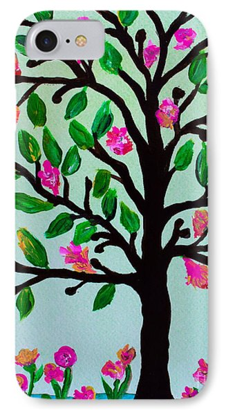 IPhone Case featuring the painting Tree Of Essence by Pristine Cartera Turkus