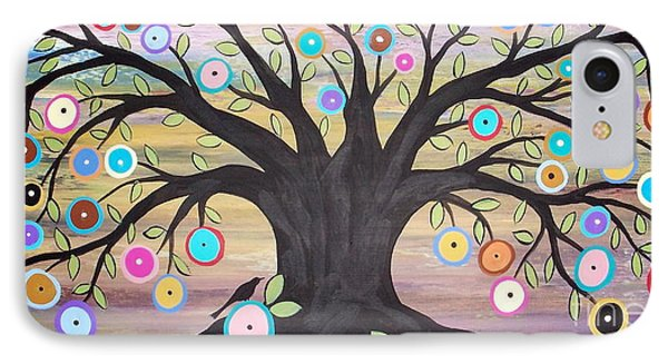 Tree Of Life And Bird Phone Case by Karla Gerard