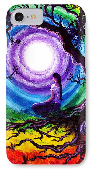 Tree Of Life Meditation IPhone Case by Laura Iverson