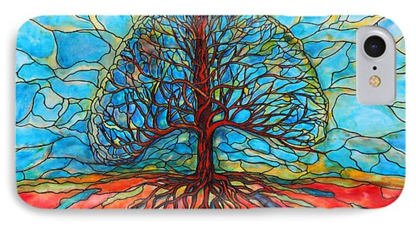 IPhone Case featuring the painting Tree Of Life by Rae Chichilnitsky