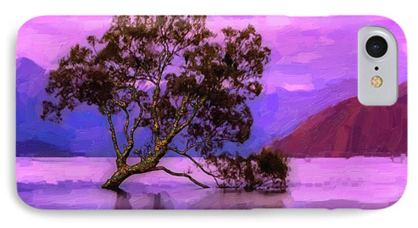 Tree Of Life - Violet Dream IPhone Case by Serge Averbukh