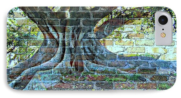 Tree On A Wall IPhone Case by Leanne Seymour