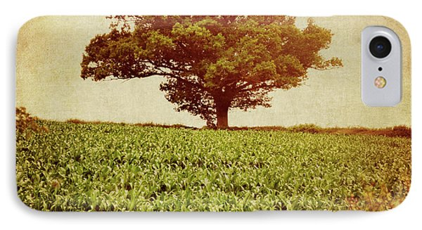 IPhone Case featuring the photograph Tree On Edge Of Field by Lyn Randle
