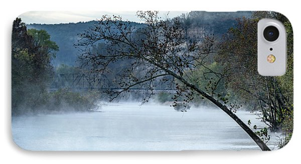 Tree Over Gasconade River Phone Case by Jae Mishra