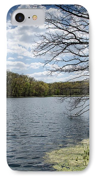 Tree Over Water IPhone Case by Amy Turner