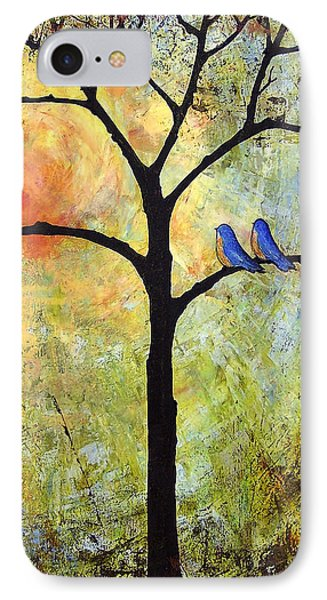 Tree Painting Art - Sunshine IPhone Case by Blenda Studio