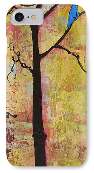 Tree Print Triptych Section 2 IPhone Case by Blenda Studio