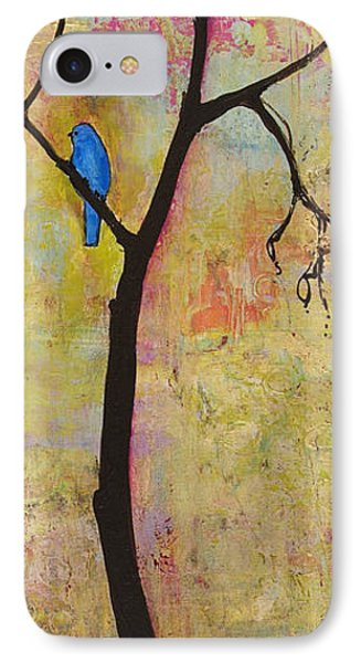 Tree Print Triptych Section 3 Phone Case by Blenda Studio