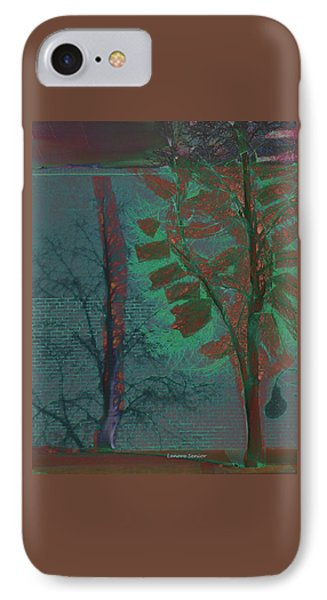 Tree Shadows At Midnight IPhone Case by Lenore Senior