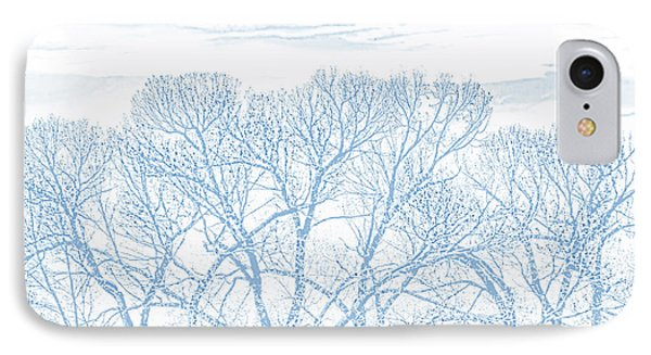 IPhone Case featuring the photograph Tree Silhouette Blue by Jennie Marie Schell