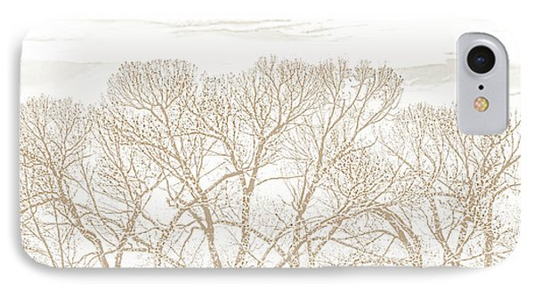 IPhone Case featuring the photograph Trees Silhouette Brown by Jennie Marie Schell