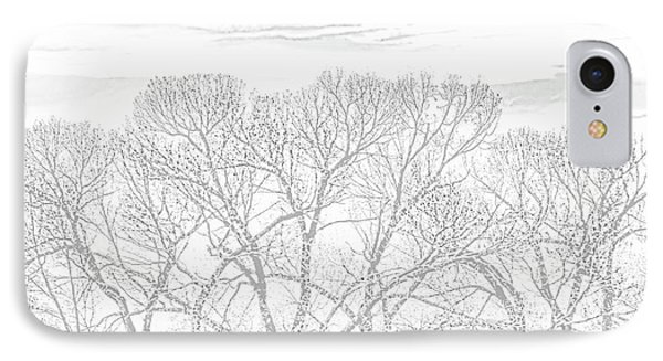 IPhone Case featuring the photograph Tree Silhouette Gray by Jennie Marie Schell