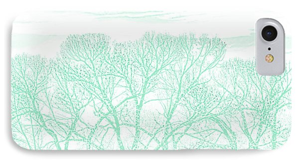 IPhone Case featuring the photograph Tree Silhouette Teal by Jennie Marie Schell