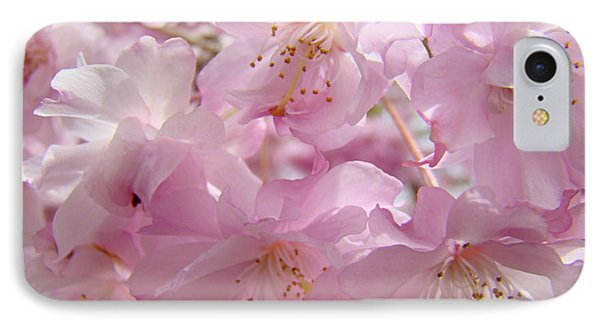 Tree Spring Pink Flower Blossoms Art Print Baslee Troutman Phone Case by Baslee Troutman