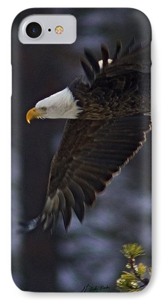 IPhone Case featuring the photograph Tree Top Flight-signed by J L Woody Wooden