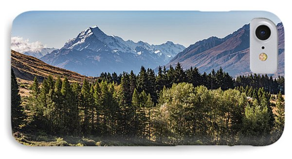 IPhone Case featuring the photograph Tree View Of Mt Cook Aoraki by Gary Eason