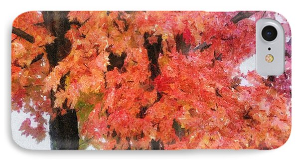 Trees Aflame Phone Case by Jeff Kolker