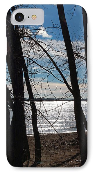 IPhone Case featuring the photograph Trees And Lake Reflections by Valentino Visentini