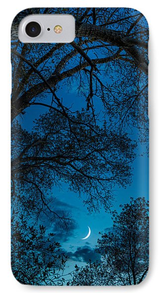 Trees And Moon IPhone Case by Darren White