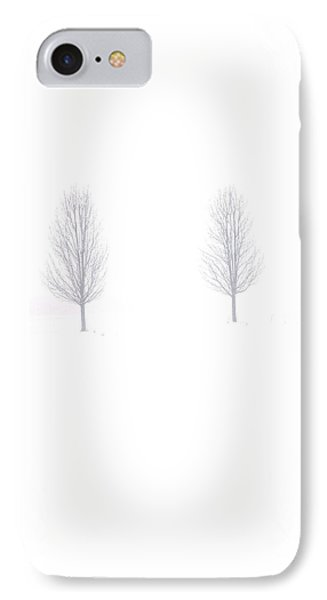 Trees And Snow IPhone Case by Daniel Thompson