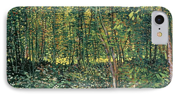 Trees And Undergrowth Phone Case by Vincent Van Gogh