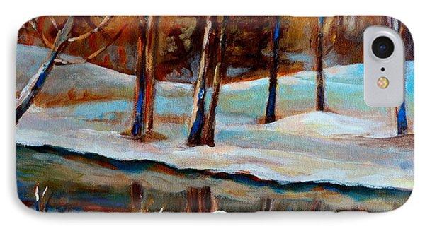 Trees At The Rivers Edge Phone Case by Carole Spandau
