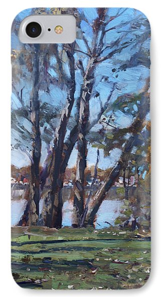 Trees By The River IPhone Case by Ylli Haruni