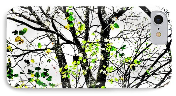 Trees Growing In Silo Abstract- Large Landscape Edition IPhone Case by Tony Grider
