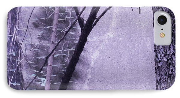 Trees Growing In Silo - Purple Landscape  Edition IPhone Case by Tony Grider