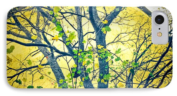 Trees Growing In Silo  - Large Yellow Edition IPhone Case by Tony Grider