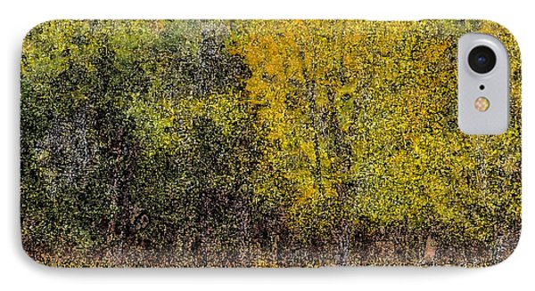 Trees In Fall With Texture IPhone Case by John Brink