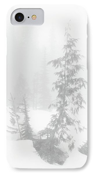 Trees In Fog Monochrome IPhone Case