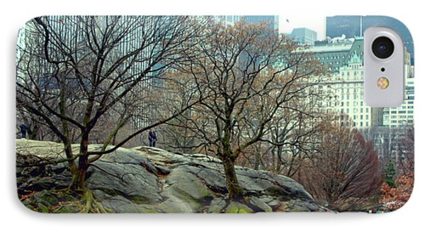 Trees In Rock IPhone Case by Sandy Moulder