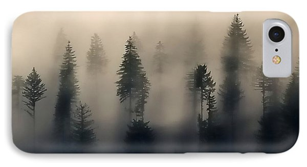 Trees In The Fog IPhone Case by Jerry Sodorff