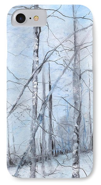 Trees In Winter Snow Phone Case by Robin Miller-Bookhout