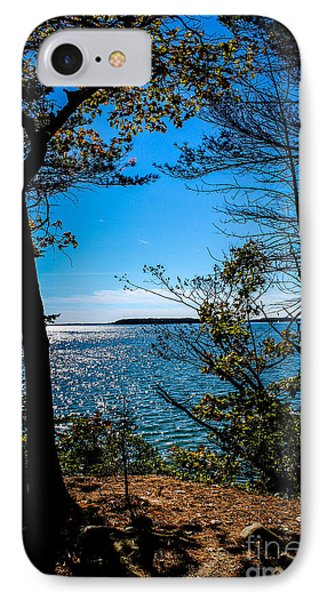 Trees Next To The Bay IPhone Case by Victory  Designs