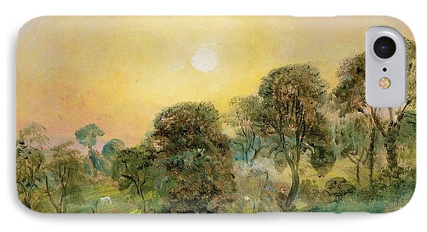 Trees On Hampstead Heath At Sunset Phone Case by John Constable