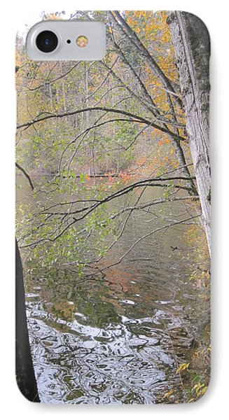 IPhone Case featuring the photograph Trees On Lake Padden by Karen Molenaar Terrell