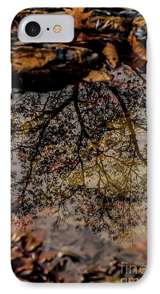 IPhone Case featuring the photograph Tree's Reflection by Iris Greenwell