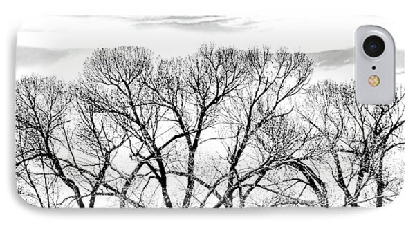 IPhone Case featuring the photograph Trees Silhouette Black And White by Jennie Marie Schell