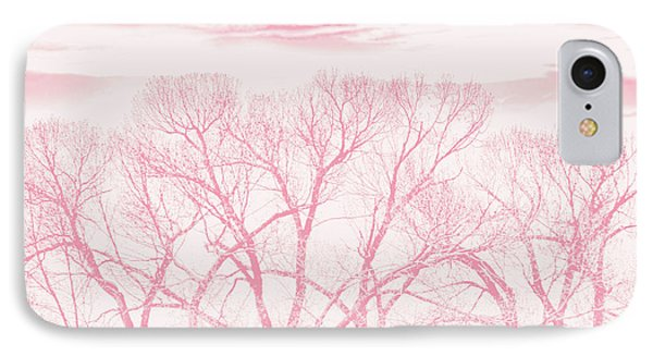 IPhone Case featuring the photograph Trees Silhouette Pink by Jennie Marie Schell